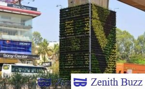 Bengaluru Gets Its First Vertical Garden . A Solution to Pollution Problems
