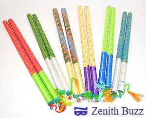 paint the Dandiya sticks and make creative patterns