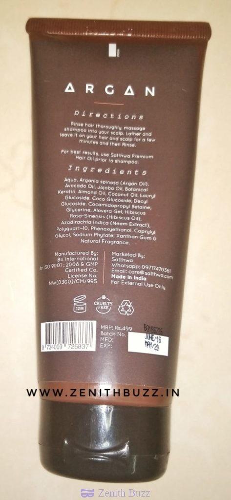 My Take on The Satthwa Argan Oil Shampoo