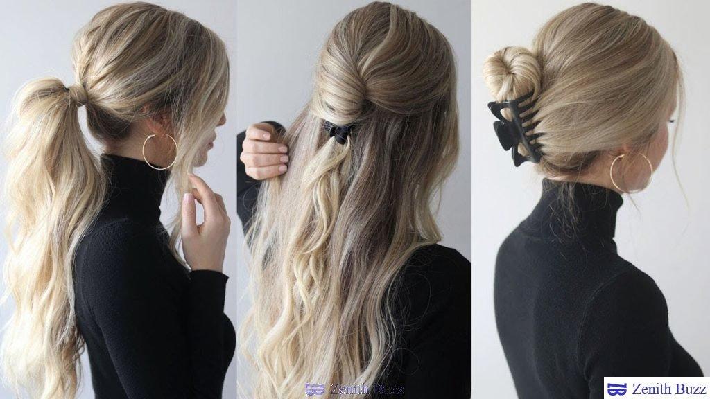 manage their dense hair using a claw clip