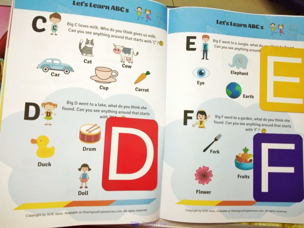 Preschool Worksheets for kids to introduce alphabets